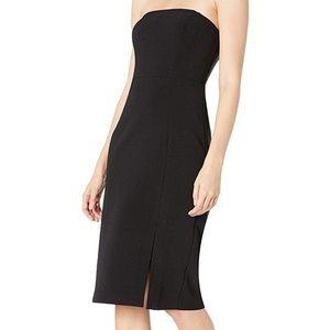 Eliza J black bodycon strapless dress Sz 14 NWT